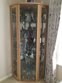 As new corner display cabinet with lights