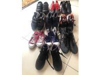 Job lot of used shoes - Nike, Adidas, Converse