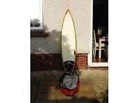 Unique SDF Custom Surfboard 6ft 6
