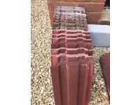 Various roof and ridge tiles