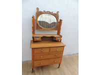 Satinwood Restored Antique chest of drawers (Delivery)