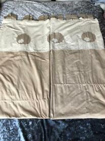 Cream &Beige tab top curtains