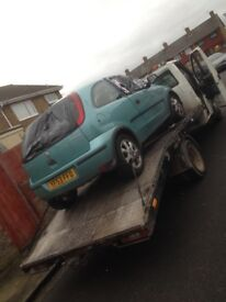 Scrap cars wanted running or not no keys no logbook crash damaged £££
