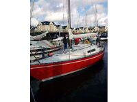 Yacht Sadler 25 Fin Keel (with trailer) well respected boat, good to go Kip Marina