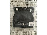 asos cat ears beanie with glow in the dark yarn *new* *sealed*