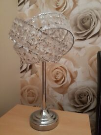Diamonte crystal bedside lamps