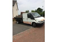 Transit crew cab tipper one owner full test 01709202026