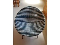 60's round woven bucket chair, upcyle project
