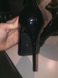 Heels black stilettos size 7