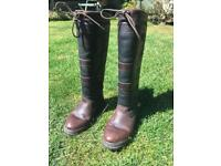 Dubarry country boots size 3