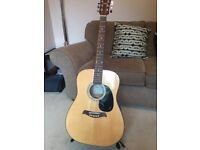 Deacon Guitar vgc with stand and beginners cd and manual
