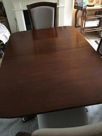 Antique dining table and 4chairs