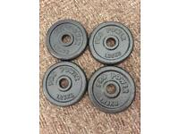 4 x 1.25 kg cast iron weights