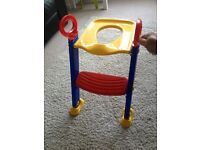 Child toilet step and seat