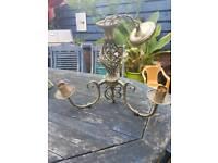 2 solid brass chandeliers