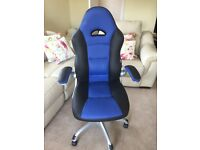 Staples Blue Executive Office Chair, Like New