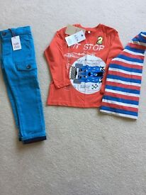 New boys trousers & 2 Pack T-Shirts