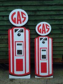 Gas pump, Petrol pump, Signs / cutouts. Garage / Workshop. Decoration.