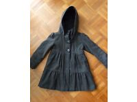 Marks and Spencer girl's grey coat 5-6 yrs