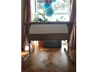 FOR SALE CHICCO BABY NEXT2ME BEDSIDE CRIB IN DOVE GREY