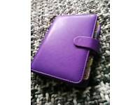 Purple pocket size filofax