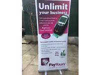 6 Roller banners stands frames