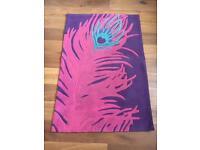 NEXT peacock design rug 100x150cm