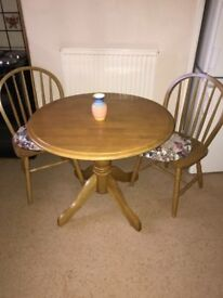 Round Folding Table and 2 Chairs