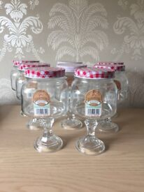 8 glass vintage sweet jars for candy sweet buffet