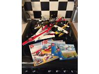 Lego job lot of aircraft. Instructions and 1 minifigure