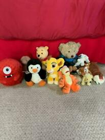 Bundle of soft toys including a build a bear