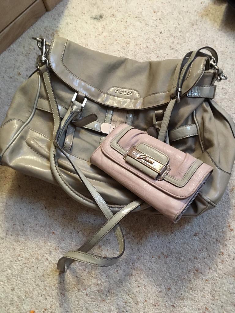 Authentic Guess handbag and purse