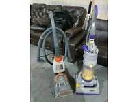 Dyson hoovers and Vax carpet washer