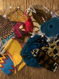 Job lot African print masks