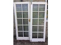 Pair of interior glass doors