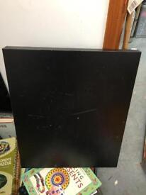 Black folded board