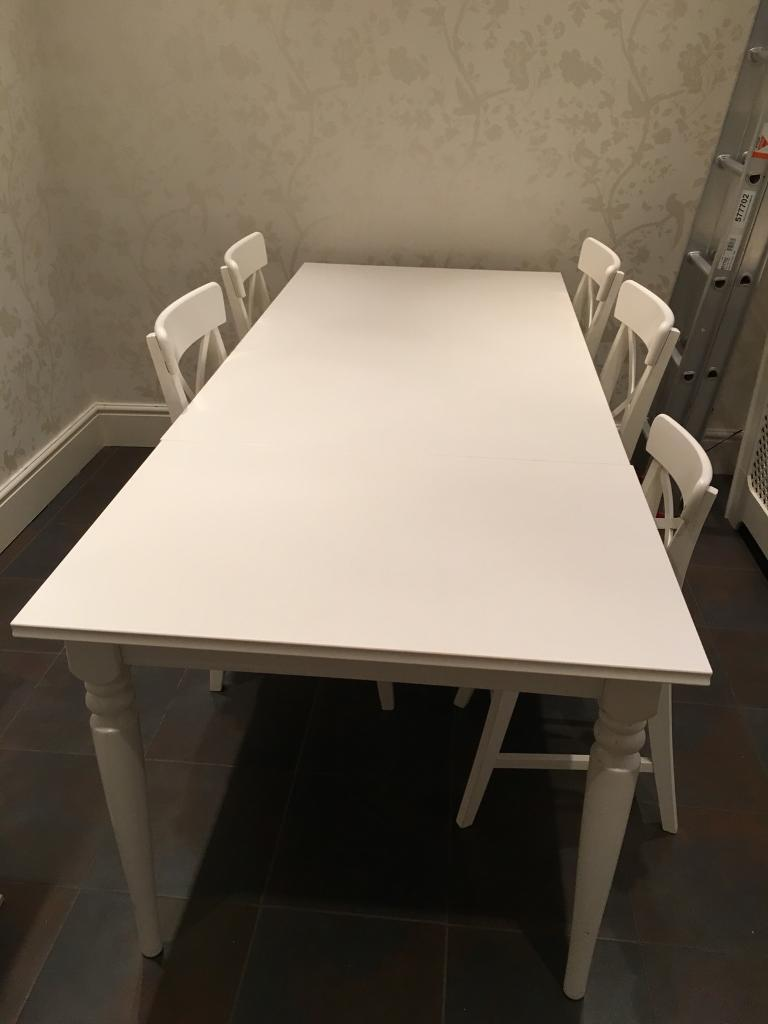 Ikea Ingatorp Dining Table With 4 Chairs