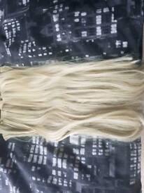 Bleach blonde hair extensions