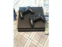 PS4 500gb with 2 controllers & games