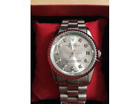 Rolex Datejust Silver, Automatic Watch, Metal Strap *1st Class Postage Available*