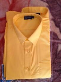 Yellow formal shirts (twin pack)