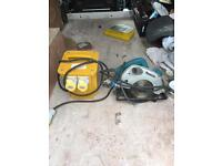 Makita circular saw & transformer