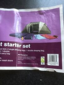 Camping Starter Kit with 4 man Tent