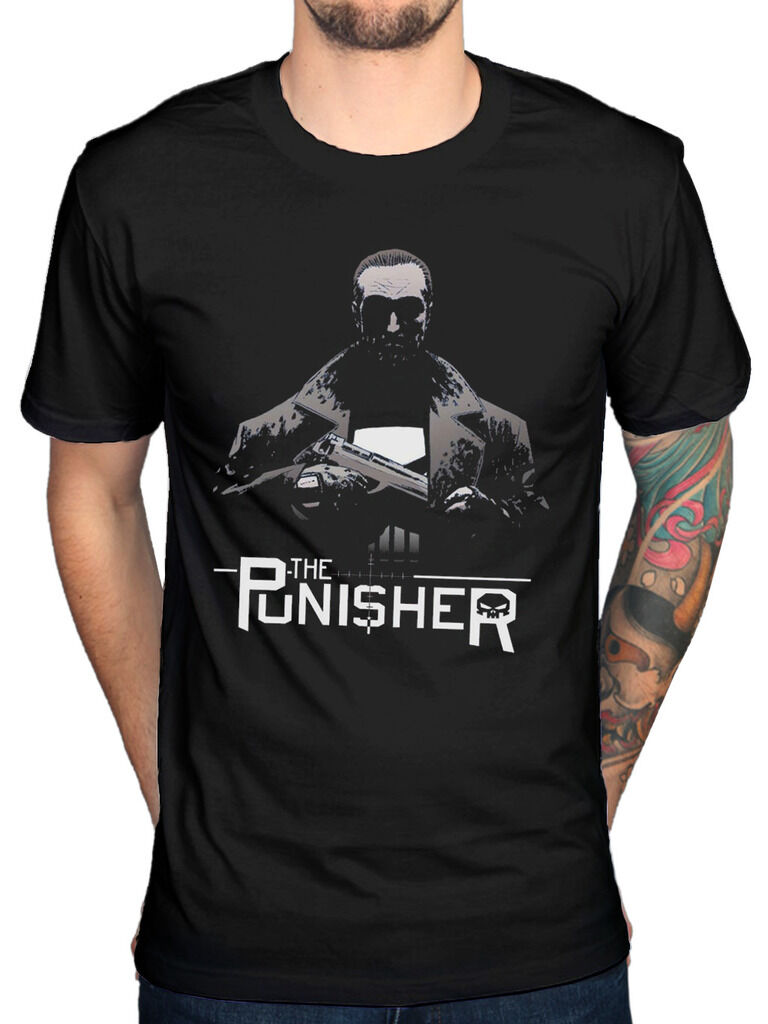 Official Marvel The Punisher Knight T-Shirt Captain American Comic Book Batman
