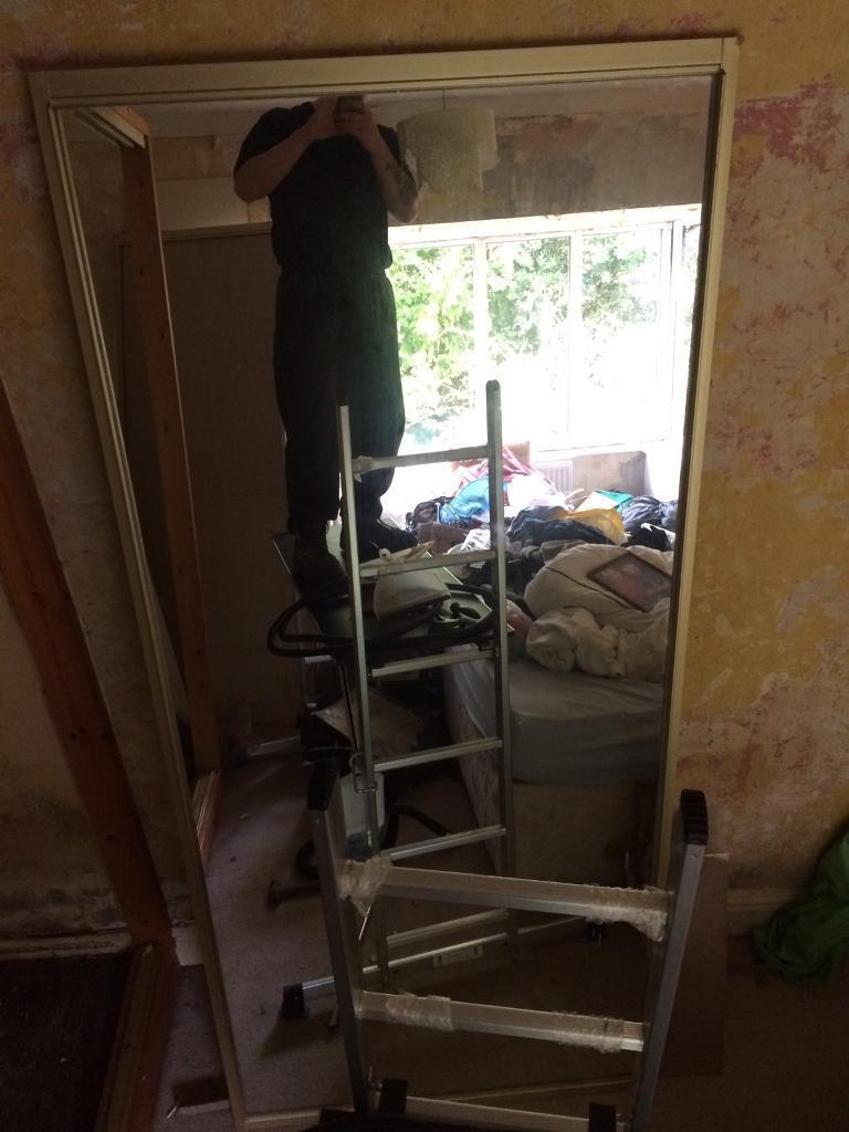 2 x large mirror doors