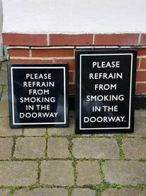 Signs from a pub