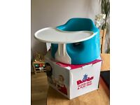 Blue bumbo with play tray - boxed