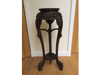Antique oriental rosewood plant stand