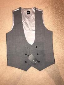 Men's grey waistcoat