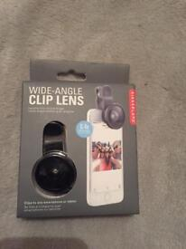Wide angle clip lens.